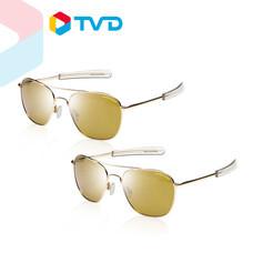 TV Direct EAGLE EYES FREEDOM SERIES MODEL 2 แว่นกันแดดเลนส์ โพลาไรซ์ ไทรเลเนียม โกลด์ 2 ชิ้น