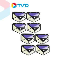 TV Direct L-MAXG ไฟโซลาเซลล์ติดผนัง 100LED 8 ชิ้น