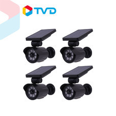 TV Direct SOLAR POWER LIGHT ไฟโซล่ารักษาความปลอดภัย รูปทรงกล้องวงจรปิด 4 ชิ้น ราคา 1,490