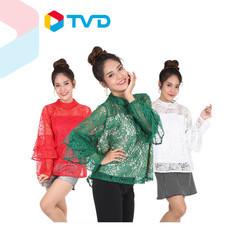 TV Direct KOKO2000 เสื้อลูกไม้ฝรั่งเศสแขนระบาย (NEW)(CR)