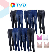 TV Direct Super Secret Legging Jean 10 ตัว แถม Sport bra 4 ตัว