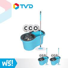 TV Direct Maxmer Spin Mop Set ชุดไม้ถูพื้น 1 เซ็ต แถมฟรี 2 เซ็ต