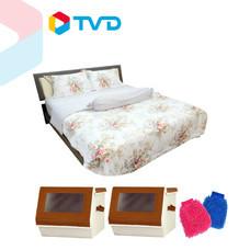 TV Direct BONITA ชุดผ้าปูที่นอน แถมกล่องเก็บของอเนกประสงค์
