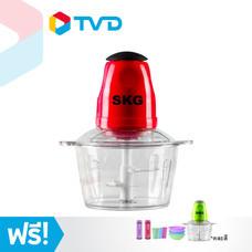 TV Direct SKG เครื่องบดสับซอยอเนกประสงค์ 4 ใบมีด สีแดง แถมฟรี เครื่องบดสับซอยอเนกประสงค์ 4 ใบมีด (คละสี) + ชาม/แก้ว (คละสี) + กระบอกเก็บความเย็น 2 ใบ (คละสี)