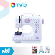 TV Direct Power Smart Electric Sewing Machine จักรเย็บผ้าไฟฟ้า แบบพกพา 12 ตะเข็บ พร้อมชุดอุปกรณ์ตัดเย็บ