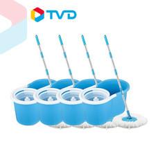 TV Direct Magic Mop ม๊อบจิ๋วพลังแจ๋ว 4 ถัง พร้อม ผ้าม็อบ 8 ชิ้น
