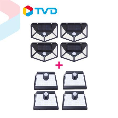 TV Direct Power Smart Sorla Wall ไฟโซล่าติดผนัง 560 Led (4+4)