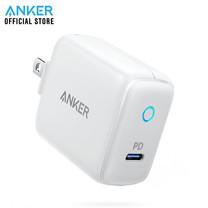 Anker PowerPort PD 1 หัวชาร์จ USB-C (PD 18W) พร้อมไฟ LED ขาปลั๊กพับเก็บได้ สำหรับ iPhone 8, 8+, X, Xs / Max / XR - White (ประกัน 2 ปี)