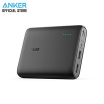 Anker PowerCore 10400 Powerbank พาวเวอร์แบงค์ แบตสำรองมือถือชาร์จเร็วด้วยช่องชาร์จ 3A (มี2 ช่องชาร์จ) Quick Charge แถม!สายชาร์จ Micro USB พร้อมซองผ้า - Black