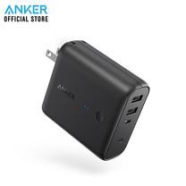 Anker PowerCore Fusion 5000 mAh 2-in-1 Powerbank แบตสำรอง+ปลั๊กชาร์จในตัว พาวเวอร์แบงค์คุณภาพสูง ชาร์จไฟออก ถึง 2 ช่อง USB Quick Charge ชาร์จเร็ว แถม!สายชาร์จ Micro USB พร้อมซองผ้า - Black