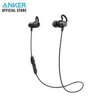Anker SoundBuds Surge หูฟังบลูทูธสำหรับออกกำลังกาย มีปุ่มควบคุมเพลงและไมโครโฟนในตัว - Black (ประกัน 18 เดือน)