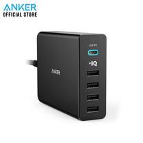 Anker PD 30W PowerPort+ 5 (60W) USB C with PD ที่ชาร์จมือถือ ชาร์จได้ 5 เครื่องพร้อมกัน - Black (ประกัน 2 ปี)