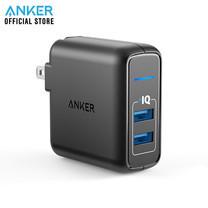 Anker PowerPort 2 Elite 24W หัวชาร์จ ที่ชาร์จมือถือ แท็บเล็ต ช่องเสียบชาร์จ USB จำนวน 2 พอร์ท - Black
