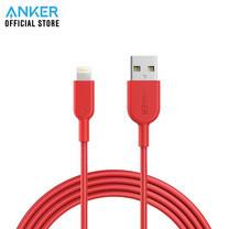 สายชาร์จ Anker Powerline II with lightning Connector 180cm (6ft) สายชาร์จไอโฟน - Red (ประกัน 2 ปี)