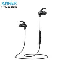 Anker SoundBuds Slim หูฟังบลูทูธ สำหรับออกกำลังกาย มีปุ่มควบคุมเพลงและไมโครโฟนในตัว - Black