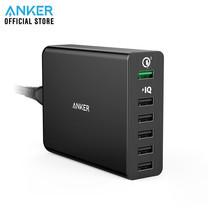Anker PowerPort+ 6 with Quick Charge 3.0 ที่ชาร์จมือถือ ช่องจ่ายไฟแบบ USB 6 ช่อง - Black