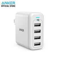 Anker PowerPort 4 หัวชาร์จ ที่ชาร์จมือถือ แท็บเล็ต ชาร์จได้ 4 เครื่องพร้อมกัน - White