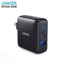 Anker PowerPort PD+2 (PD18W+QC3.0 15W) รองรับชาร์จเร็ว iPhone หัวชาร์จแบตเตอรี่ใช้ได้กับ iPhone / iPad / MacBook / Galaxy / LG - Black (ประกัน 2 ปี)
