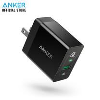 Anker PowerPort+ 1 with Quick Charge 3.0 US (18W) หัวชาร์จ ที่ชาร์จมือถือ แท็บเล็ต ชาร์จเร็วกว่าที่ชาร์จทั่วไปถึง 4 เท่า - Black