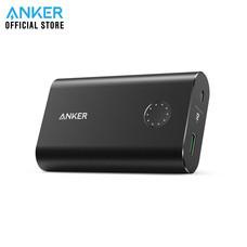 Anker PowerCore+ 10050 With Quick Charge 3.0 Powerbank พาวเวอร์แบงค์ แบตสำรองมือถือชาร์จเร็ว มีช่องชาร์จเร็ว QC3.0 แถม!สายชาร์จ Micro USB พร้อมซองผ้า - Black