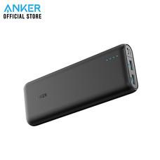 Anker PowerCore Speed 20000 mAh Quick Charge 3.0 พาวเวอร์แบงค์คุณภาพสูง แบตสำรองมือถือมีช่องชาร์จเร็ว QC3.0 มี 2 ช่องชาร์จเร็ว แถม!สายชาร์จ Micro USB พร้อมซองผ้า - Black
