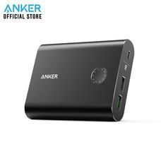 Anker PowerCore+ 13400 with Quick Charge 3.0 Powerbank พาวเวอร์แบงค์ แบตสำรองมือถือชาร์จเร็ว มีช่องชาร์จเร็ว QC3.0 แถม!สายชาร์จ Micro USB พร้อมซองผ้า - Black