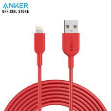สายชาร์จ Anker Powerline II with lightning Connector 300cm (10ft) สายชาร์จไอโฟน - Red (ประกัน 2 ปี)