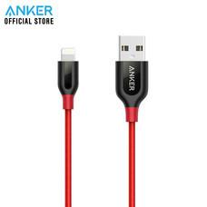Anker PowerLine+ Lightning สายชาร์จ 90cm (3ft) สำหรับไอโฟน หุ้มด้วย Nylon ถัก 2 ชั้น มาตรฐาน MFi จาก Apple - สีแดง