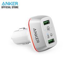ที่ชาร์จในรถยนต์ Anker PowerDrive+ 2 with Quick Charge 3.0 ใช้งานได้ 2 ช่อง - White