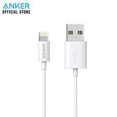 สายชาร์จ Anker MFI USB to Lightning Round Cable 3ft สายชาร์จไอโฟน - White