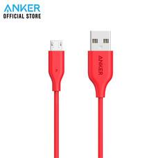 Anker Powerline Micro USB สายชาร์จ 90cm (3ft) รองรับชาร์จเร็ว สายชาร์จแอนดรอยด์ - สีแดง