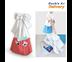 Double A กระเป๋าผูกโบว์ กระเป๋าผ้าลดโลกร้อน กระเป๋าสะพายข้าง ขนาด 30x35x14 cm. รุ่น Happiness สีพาสเทล