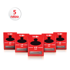 กล่องกระดาษทิชชู (สีแดง) Set 5 กล่อง แถมฟรี!! ปลอกแขนกันแดด มูลค่า 100 บาท