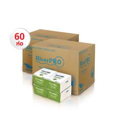 กระดาษเช็ดปาก Pop-Up RiverPro 200 แผ่น (1 แพ็ค/12 ห่อ) Set 5 แพ็ค แถมฟรี!! ปลอกแขนกันแดด มูลค่า 100 บาท