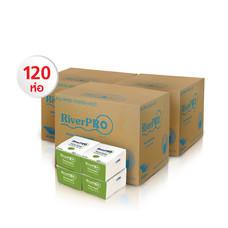 กระดาษเช็ดปาก Pop-Up RiverPro 200 แผ่น (1 แพ็ค/12 ห่อ) Set 10 แพ็ค