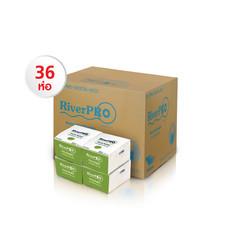 กระดาษเช็ดปาก Pop-Up RiverPro 200 แผ่น (1 แพ็ค/12 ห่อ) Set 3 แพ็ค แถมฟรี!! ผ้ากันเปื้อน มูลค่า 150 บาท
