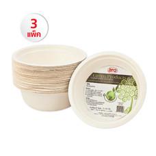 ชามไบโอชานอ้อน Aro Green Product 500 ml. (1แพ็ค/50ใบ) Set 3 แพ็ค