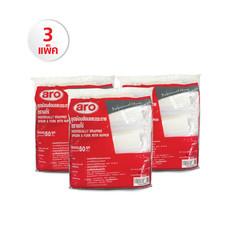 ชุดช้อนส้อม+กระดาษเช็ดปาก ARO/SAVE Set 3 แพ็ค (1 แพ็ค/50 ชุด)