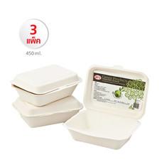 กล่องบรรจุอาหาร Aro Green Product 450 ml. (1 แพ็ค/50 กล่อง) Set 3 แพ็ค