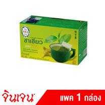 """Gingen """"จินเจน"""" เครื่องดื่มชนิดซองแช่ ชาเขียวผสมขิง ขนาด 40 กรัม (20ซอง x 2กรัม) (แพค 1 กล่อง)"""