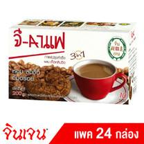Gingen จี-กาแฟ กาแฟปรุงสำเร็จ ผสมเห็ดหลินจือ ขนาด 200 กรัม (10ซอง X 20 กรัม) (แพค 24 กล่อง)