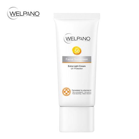 Welpano Facial Sunscreen Extra Light Cream UV Protection SPF50 PA+++ 30 ก.