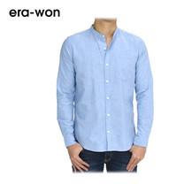 era-won เสื้อเชิ้ต รุ่น OXFORD SHIRT ทรง Slim - สีฟ้า Classy Blue