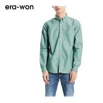 era-won เสื้อเชิ้ต รุ่น OXFORD SHIRT ANTI-BACTERIA ทรง Slim คอปก - สีเขียว (Marijuana)