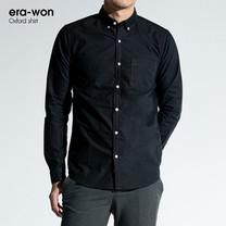 era-won เสื้อเชิ๊ต รุ่น OXFORD SHIRT ทรง Slim - สีดำ Black คอปก