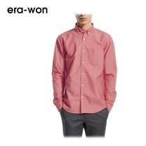 era-won เสื้อเชิ้ต รุ่น OXFORD SHIRT ANTI-BACTERIA ทรง Slim - สีแดงชมพู Pink Castard