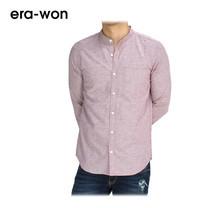 era-won เสื้อเชิ้ต รุ่น OXFORD SHIRT ทรง Slim - สีเบอร์รี่ Classy Berry