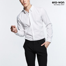 era-won เสื้อเชิ๊ต รุ่น SUPER SHIRT  ทรง Slim - สีขาว White