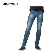 era-won กางเกงยีนส์ รุ่น JEANS DENIM ทรง Ultra Skinny - สียีนส์  Tech Washed