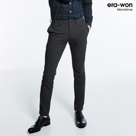 era-won กางเกงสแลค รุ่น MONOTONE ทรง Super Skinny - สีเทาเข้ม 50 grey